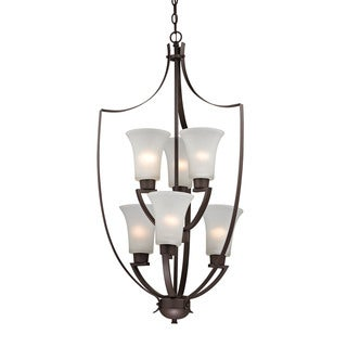 Cornerstone Foyer Collection 6 Light Chandelier In Oil Rubbed Bronze