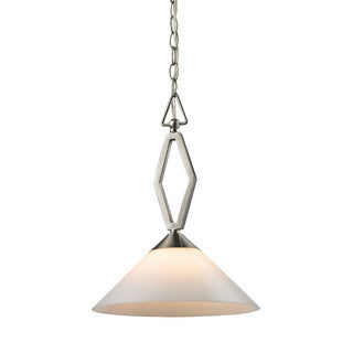 Cornerstone Tribecca 1 Light Pendant Large In Brushed Nickel