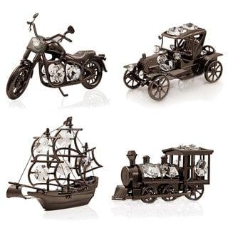 Matashi Ultra Driver Charcoal Metal Ornament Collection with Matashi Crystals