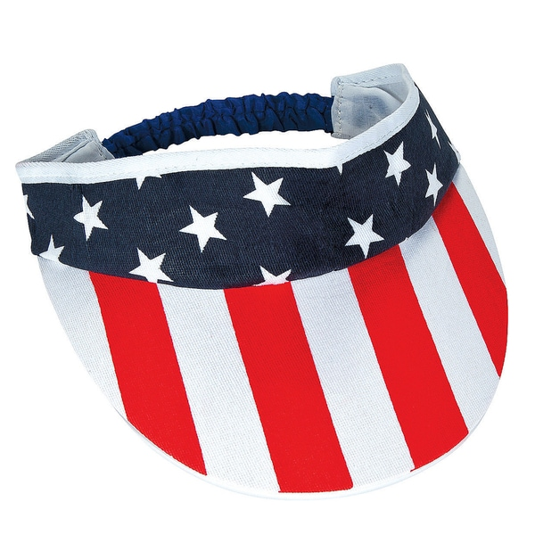 Stars and Stripes USA American Flag Visor