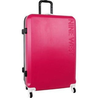 Nine West Fast Track 28-inch Pink/Black Spinner Hardside Upright Suitcase