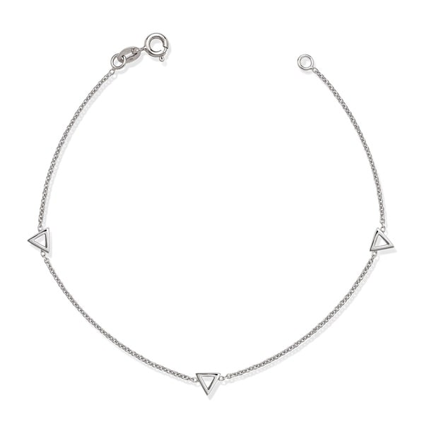 La Preciosa Sterling Silver Open Triangles Bracelet