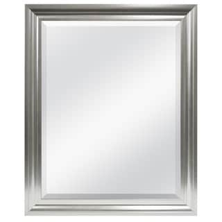 Satin Silver Finished 27x33 Beveled Mirror