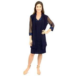 R&M Richards Women's Duster Jacket Dress
