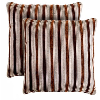 Slumber Shop Vanity Stripe Decorative 18-inch Throw Pillows (Set of 2)