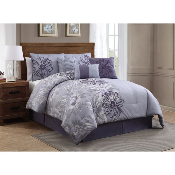 Avondale Manor Vienna Print with Embroidery 7-piece Comforter Set