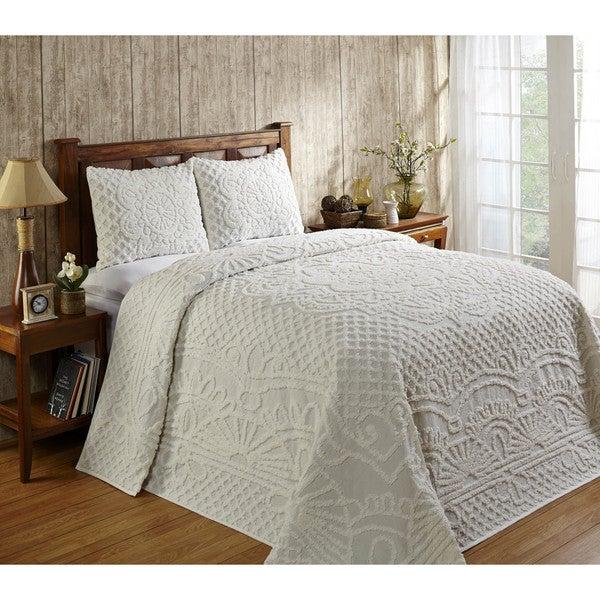 Trevor Chenille 3-piece Bedspread Set