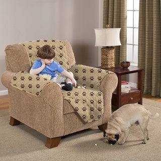 Slumber Shop Reversible and Quilted Paw Print Furniture Protector