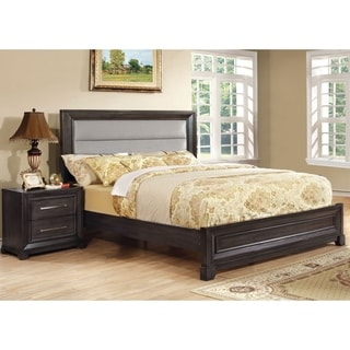 Furniture of America Stoneway Dark Grey 2-piece Bed and Nightstand Set