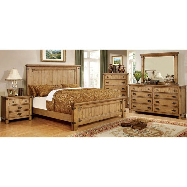 Furniture of america sierren country style 4 piece bedroom for Furniture of america reviews