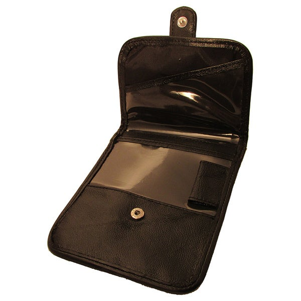 Continental Leather Travelers Neck ID Boarding Pass Holder with Long Adjustable Neck Strap Lanyard
