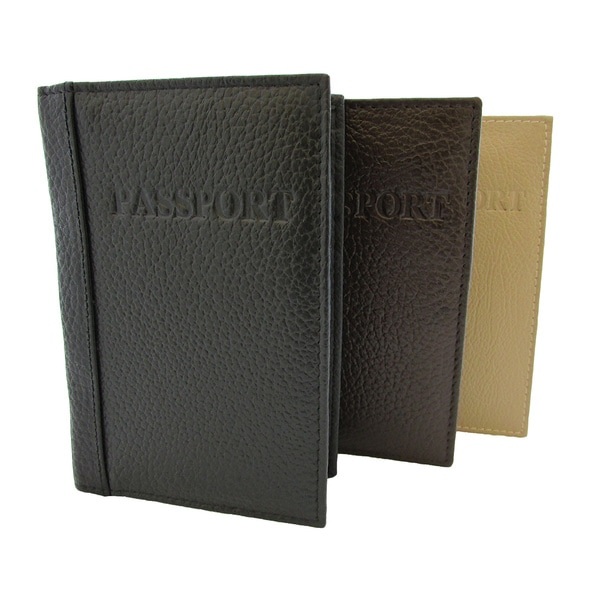 Continental Leather Top Grain Passport Case Great Small Family Passport Case