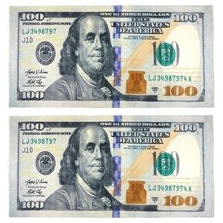 New $100 Bill Beach Towel (Set of 2)