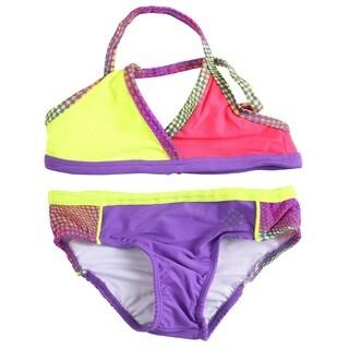 Big Chill Girls' UV Protection Two-piece Bikini Swimwear Set