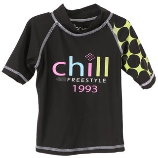 Big Chill Girls' Swim Chill Print UV Protection Rash Guard