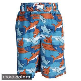 Ixtreme Baby Boys' UV Protection Shark Printed Mesh Insert Swim Trunk