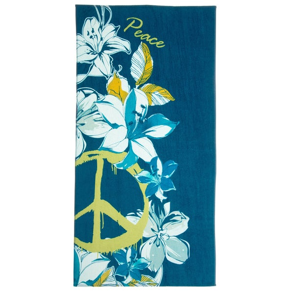 Hibiscus Peace Beach Towel (Set of 2)