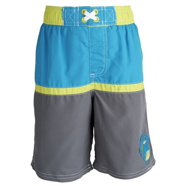 Ixtreme Baby Boys' UV Protection Colorblock Printed Mesh Insert Swim Trunk