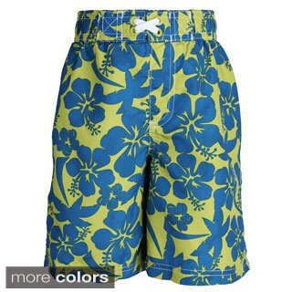 Ixtreme Baby Boys' UV Protection Floral Printed Mesh Insert Swim Trunk