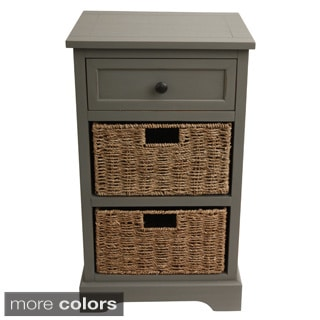 Antiqued 2-basket Chest