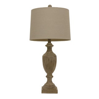 White Wash Trophy Table Lamp