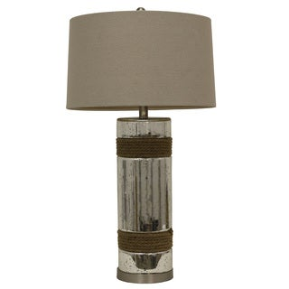 Silver Mercury and Rope Table Lamp