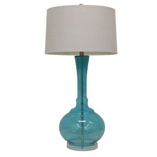 Spa Blue Glass Table Lamp