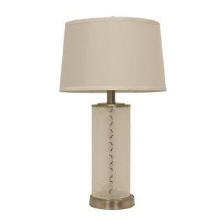 Quatrefoil Etched Glass Table Lamp