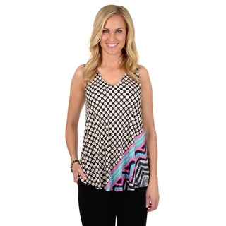 Timeless Comfort by Journee Women's Sleeveless V-neck Tunic Top
