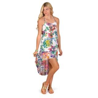 Journee Collection Junior's Floral Print Empire Waist Hi-lo Dress