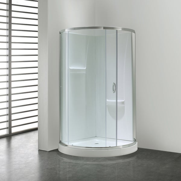 Ove Decors Breeze 31 Shower Enclosure Kit with Paris Base, Walls, Glass and Door