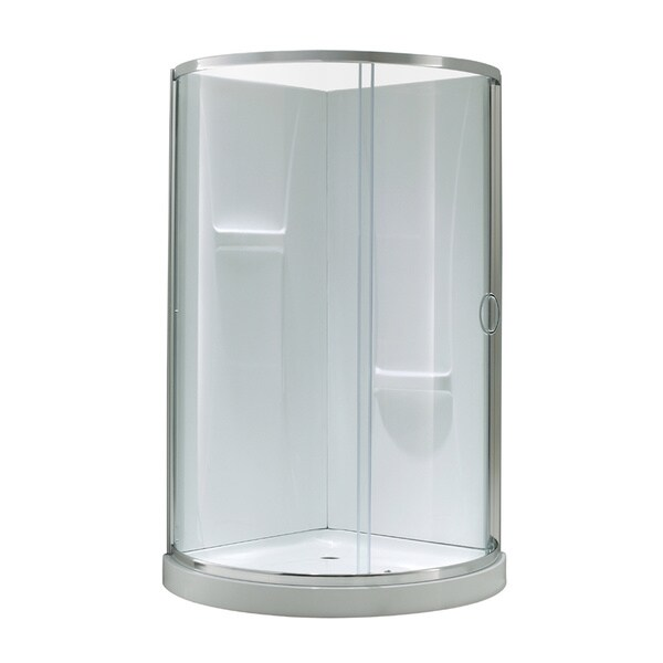 Ove Decors Breeze 34 Shower Enclosure Kit with Paris Base, Walls, Glass and Door