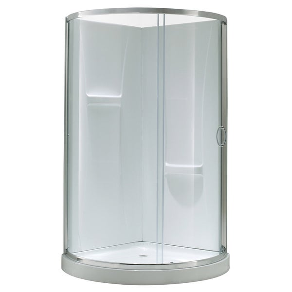 Ove Decors Breeze 36 Shower Enclosure Kit with Paris Base, Walls, Glass and Door