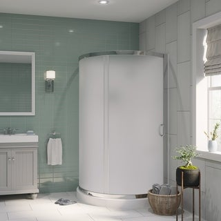Ove Decors Breeze 38 Shower Enclosure Kit with Paris Base, Walls, Glass and Door
