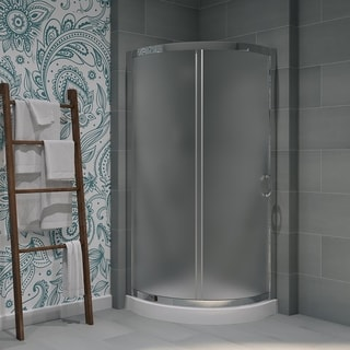 Ove Decors Breeze 31 Shower Enclosure Kit with Paris Base, Glass and Door