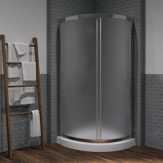 Ove Decors Breeze 34 Shower Encloslure Kit with Paris Base, Glass and Door