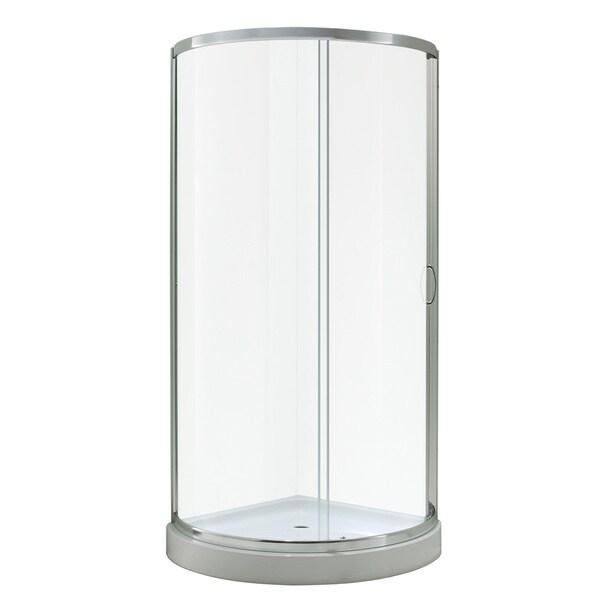 ove Decors Breeze 36 Shower Enclosure Kit with Paris Base, Glass and Door