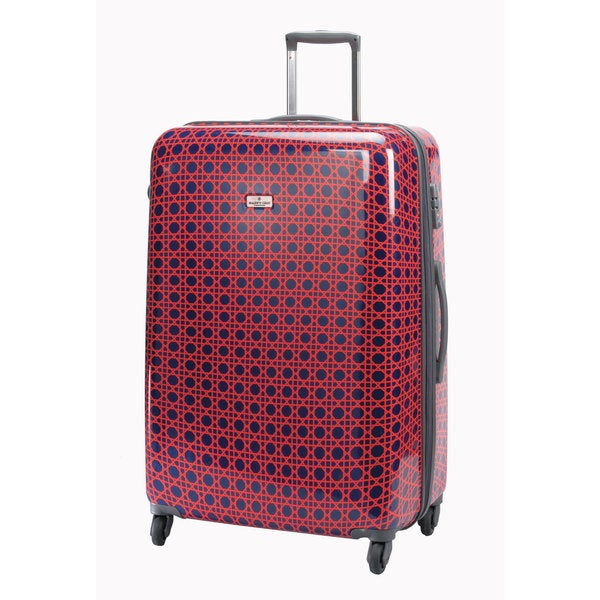 Happy Chic by Jonathan Adler Red Cain 21-inch Carry On Hardside Spinner Upright Suitcase