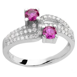 Sterling Silver Quartz and Cubic Zirconia Ring