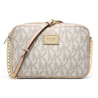 Michael Kors Jet Set Vanilla Signature Crossbody Handbag