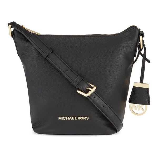 MICHAEL Michael Kors Bedford Leather Small Messenger Bag Black