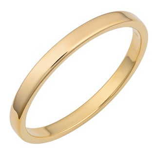 Oro Forte 14k Yellow Gold High Polish Slip-on Bangle