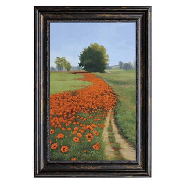 Julie Peterson-Poppy Field 28 x 40 Framed Art Print