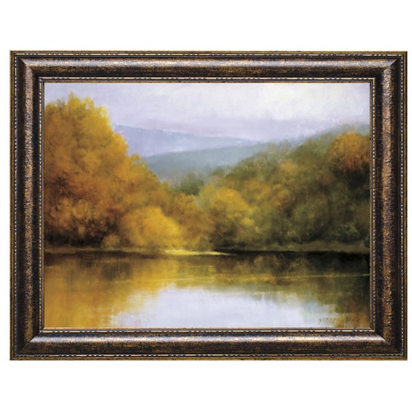 Robert Striffolino-October Lakeside 40 x 28 Framed Art Print