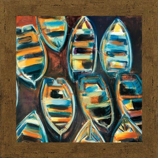 G.A. Hickman-Boat Pads 31 x 31 Framed Art Print