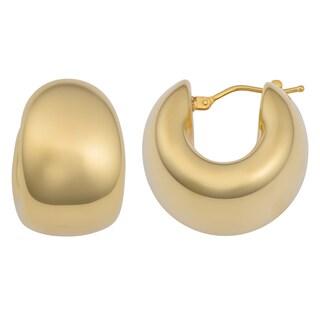 Oro Forte 14k Yellow Gold Bold Polished Hoop Earrings