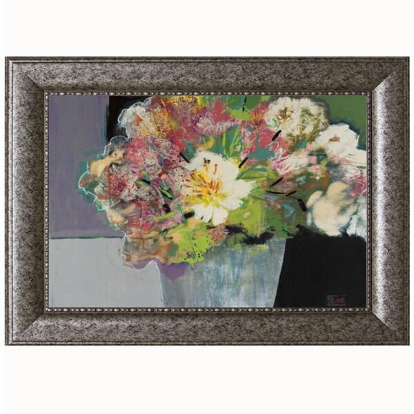 Leslie Bernsen-Flower Market, 40 x 28 Framed Art Print