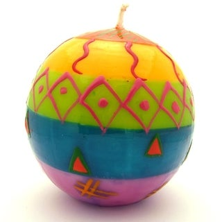 Hand-Painted Ball Candle - Shahida Design - Nobunto Candles (South Africa)