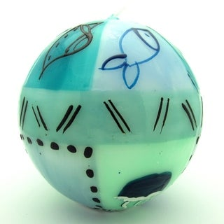 Hand-Painted Ball Candle - Samaki Design - Nobunto Candles (South Africa)