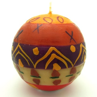 Hand-Painted Ball Candle - Indaeuko Design - Nobunto Candles , Handmade in South Africa